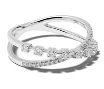 14kt 'Ava Bea' Weißgoldring mit Diamanten