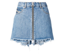 Jeans-Shorts mit Rock-Overlay