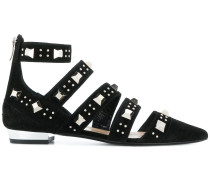 pointed studded ballerinas
