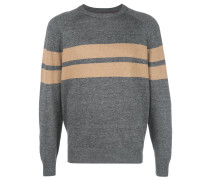 stripe crew knit sweater