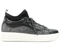 platform glitter sneakers
