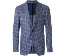 tailored check blazer