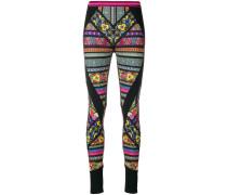 graphic print panelled leggings