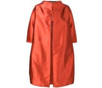 satin cocoon coat