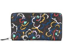 floral print zip purse