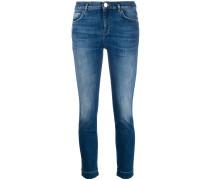 Skinny-Jeans mit Gürtel