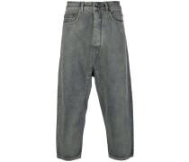 Cropped-Jeans mit tiefem Schritt