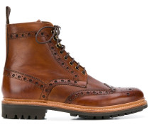 Brogued ankle boots