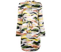 camouflage print shirt dress