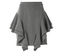 frill layered mini skirt
