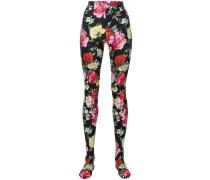 floral print tights
