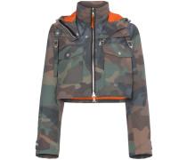 Cropped-Jacke mit Camouflage-Print