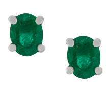 18kt gold and emerald stud earrings
