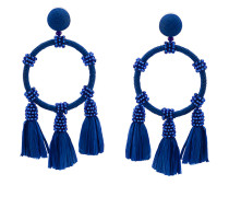 raffia hoop earrings
