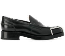 metallic detailed loafers