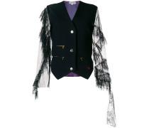 lace sleeve waistcoat