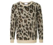leopard intarsia sweater
