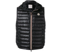 padded zipped gilet