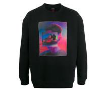 Sweatshirt mit Autoskooter-Print