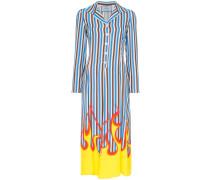 Hemdkleid mit Flammen-Print