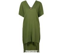 Poncho-Kleid mit Fransen