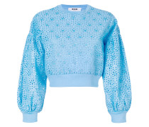 broderie anglaise detail sweatshirt