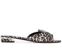 Pantoletten mit Leopardenmuster