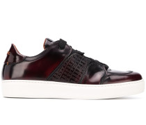 embossed panels low-top sneakers