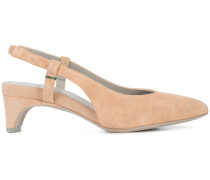 Slingback-Pumps aus Wildleder