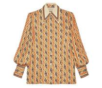 Bluse mit Ketten-Print
