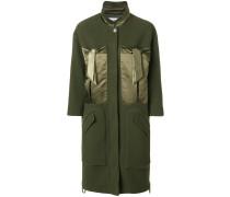 Mantel mit Satin-Taschen
