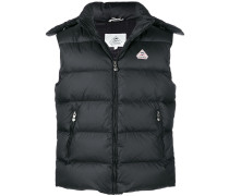 zipped padded vest