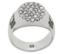 metallic signet ring
