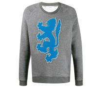 Sweatshirt mit aufgesticktem Löwen