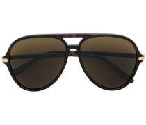 Pilotenbrille mit Schildpattoptik