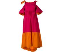 cold shoulder flared dress