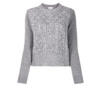 Pullover mit Metallic-Saum