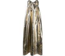 Schulterfreies Lurex-Kleid