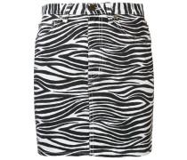 Jeansrock mit Zebramuster