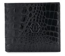 Portemonnaie mit Krokodilledereffekt