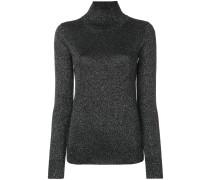 Lurex-Pullover mit hohem Stehkragen