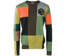 patchwork colour block jumper