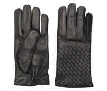 Handschuhe mit Intrecciato-Flechtmuster