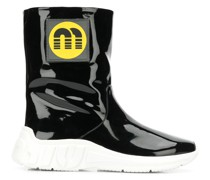 logo patch ankle boots