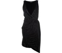bead-embellished draped dress