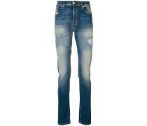 Schmale Jeans mit Bleached-Effekt