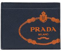 Saffiano logo cardholder