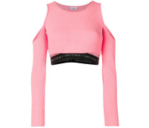 Cropped-Oberteil mit Cut-Outs