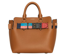 The Small Leather Colour Block Detail Belt Bag
