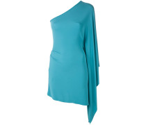 fitted one-shoulder dress